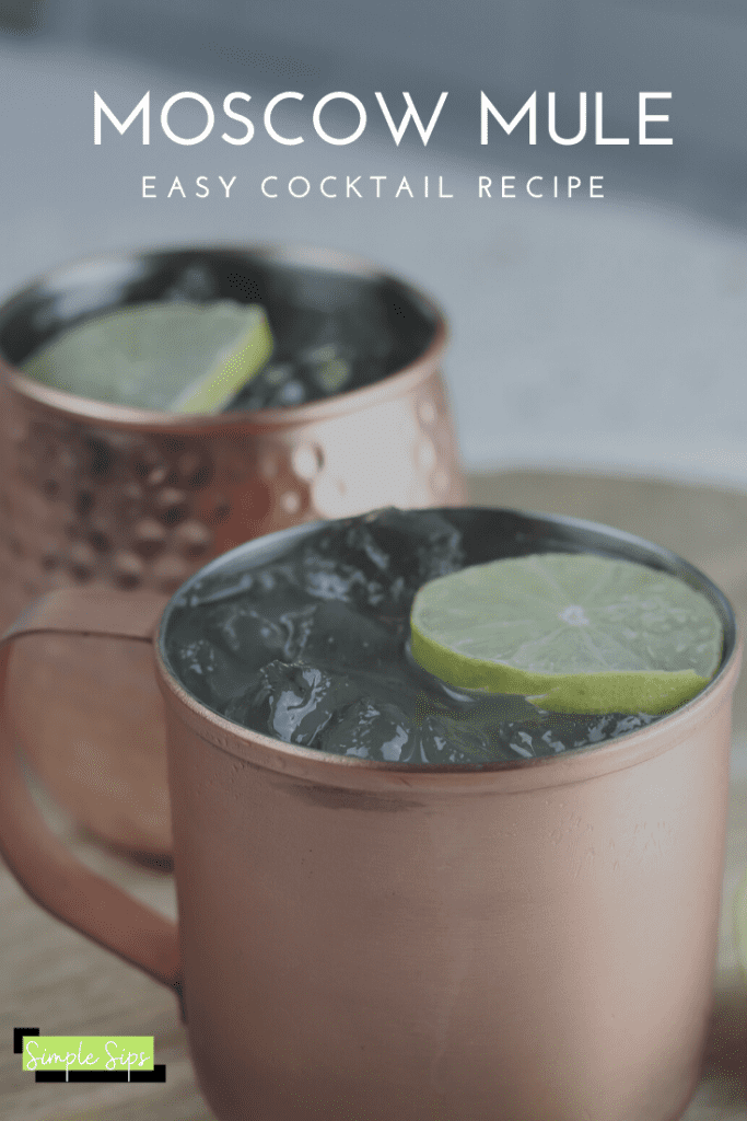 MOSCOW MULE easy cocktail recipe