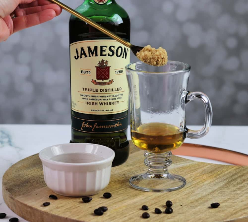 Irish coffee whiskey and brown sugar