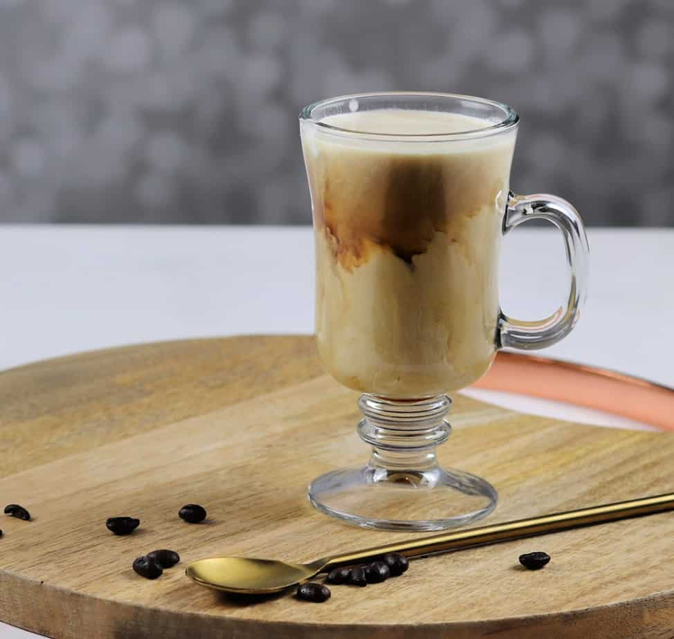 Irish coffee with cream