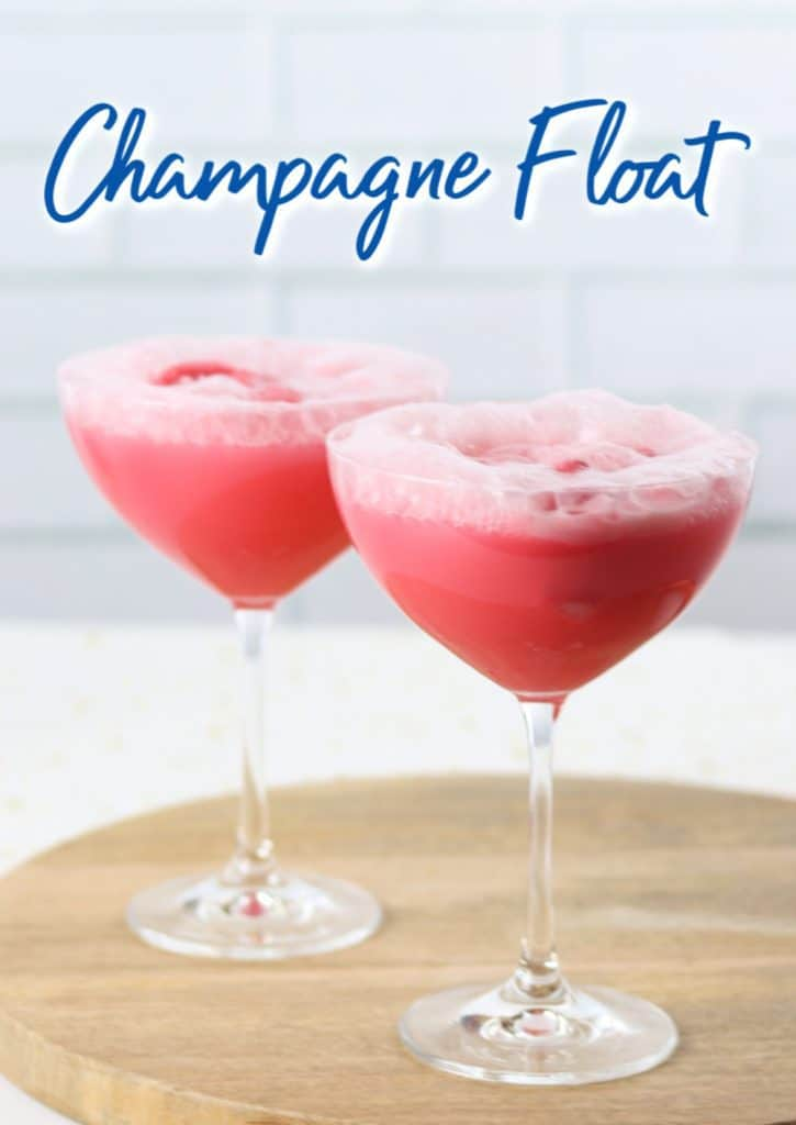 champagne float cocktail recipe
