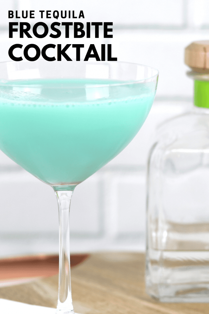 Blue drink for winter - frostbite cocktail