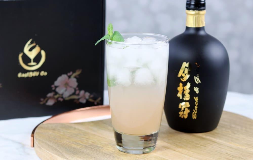 Spring flower sake cocktail