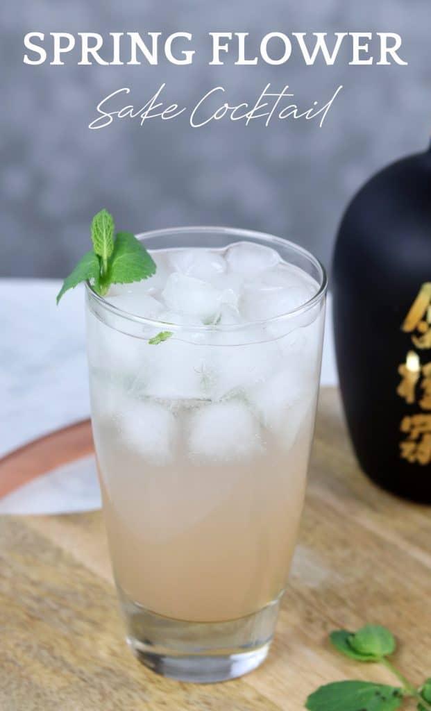 Spring flower sake drink
