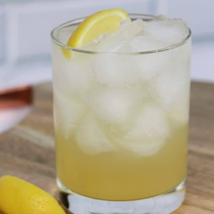 simple whiskey fizz cocktail
