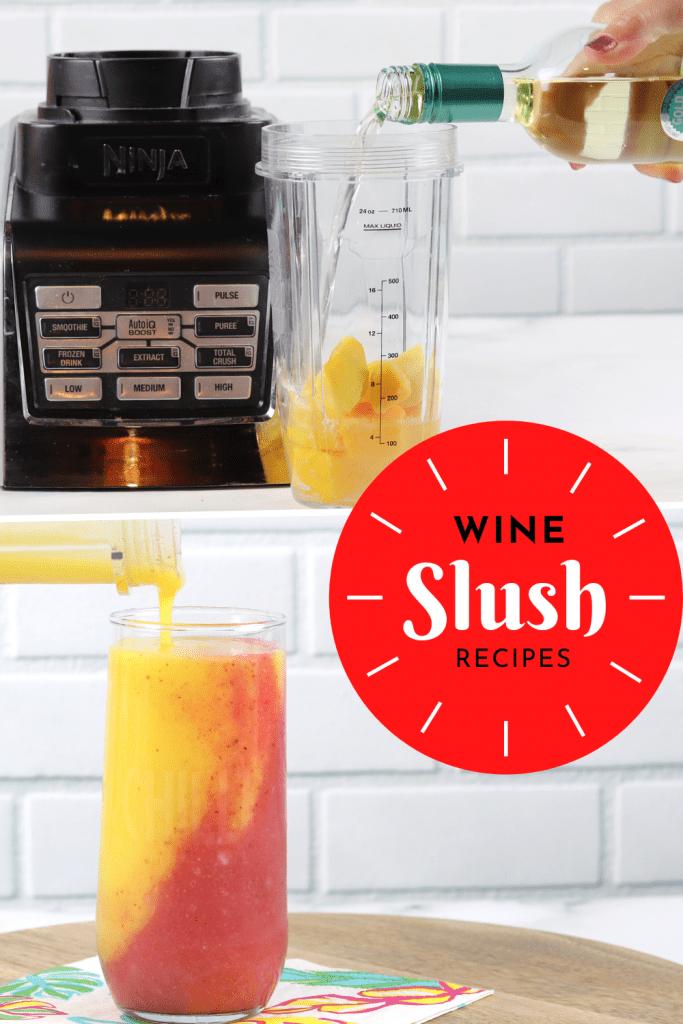 strawberry mango wine slushie