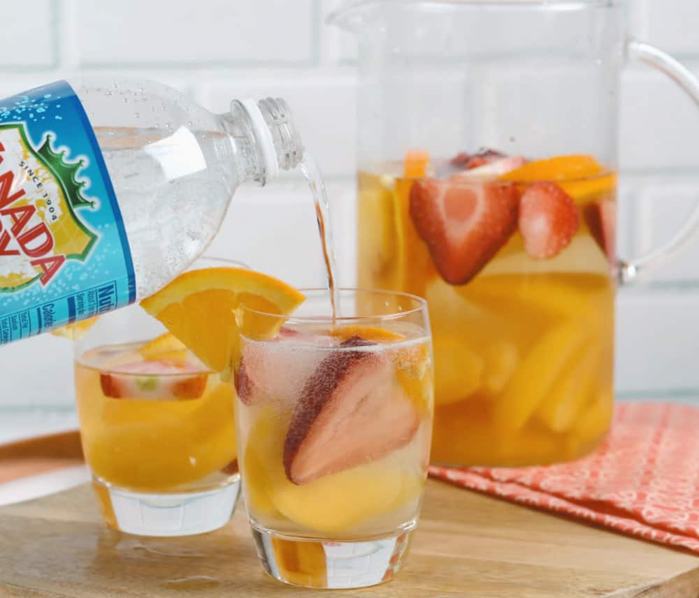peach sangria and club soda