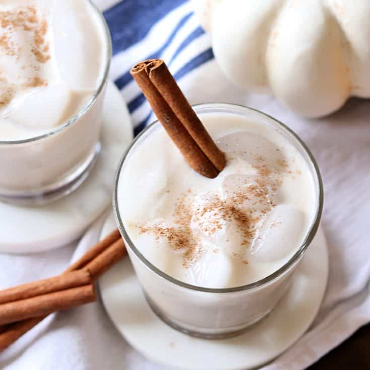 Pumpkin spice white russian square
