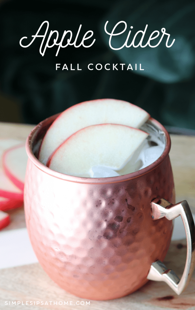 Apple cider fall cocktail