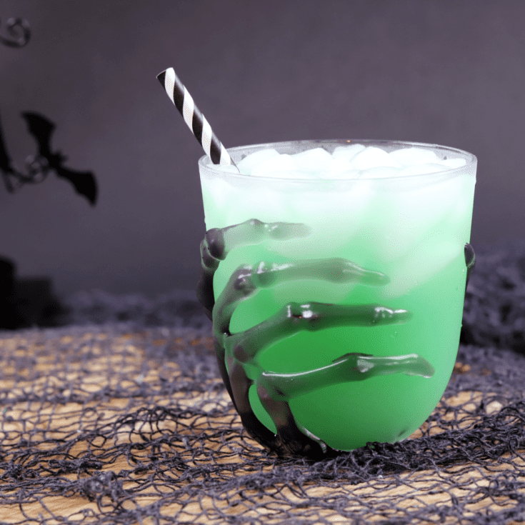 green halloween cocktail square