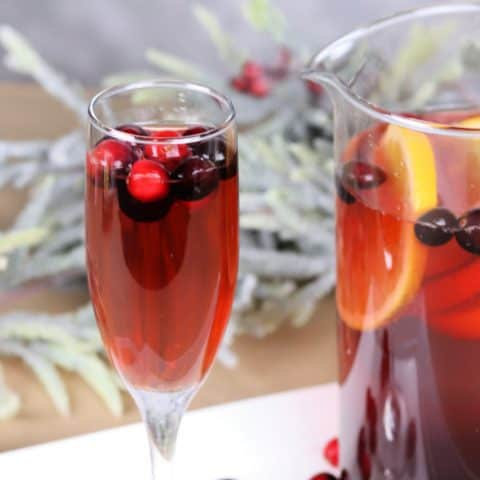 Christmas punch in a glass