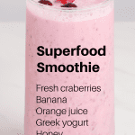 Superfood smoothie recipe pin