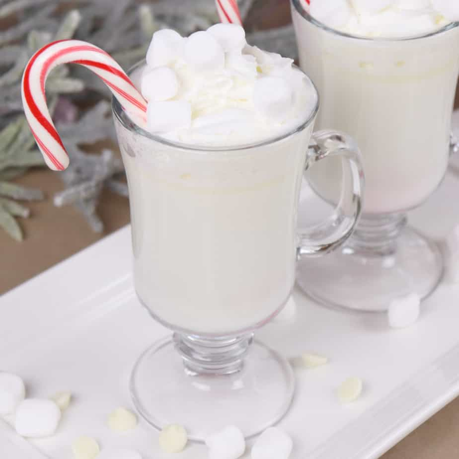 White hot chocolate square