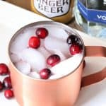cranberry moscow mule with ginger beer and vodka