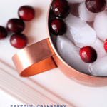 festive cranberry moscow mule