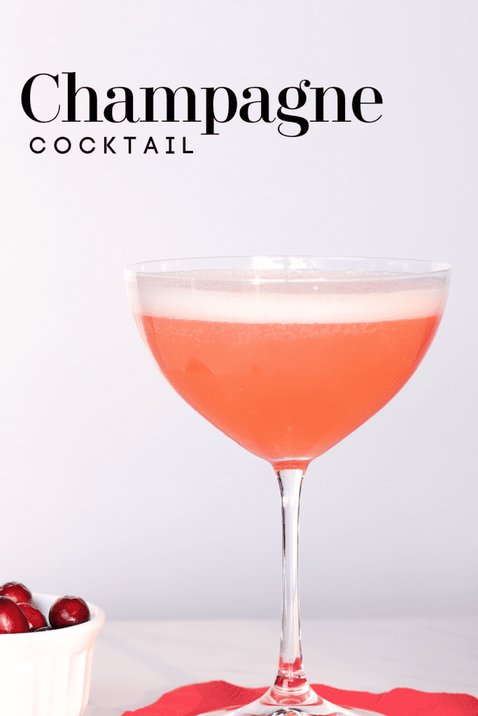 Champagne cocktail juniper royale