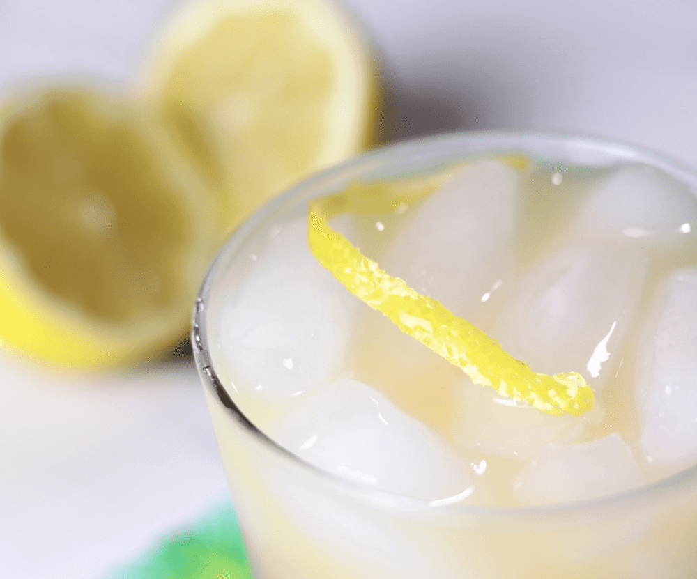 gin and sin with lemon twist